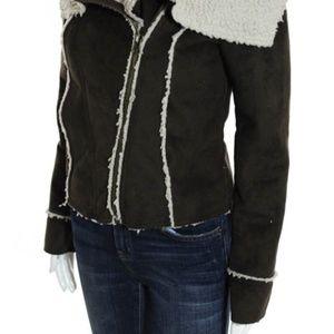 Jack by BB Dakota Jackets & Coats - Jack by BB Dakota Brown Suede Sherpa Coat XS